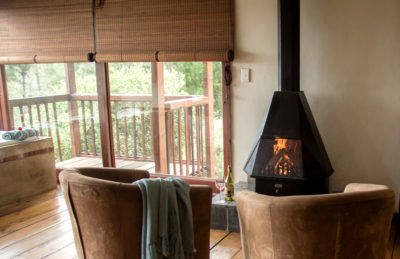 Fireplace at Forest Valley Cottage Knysna